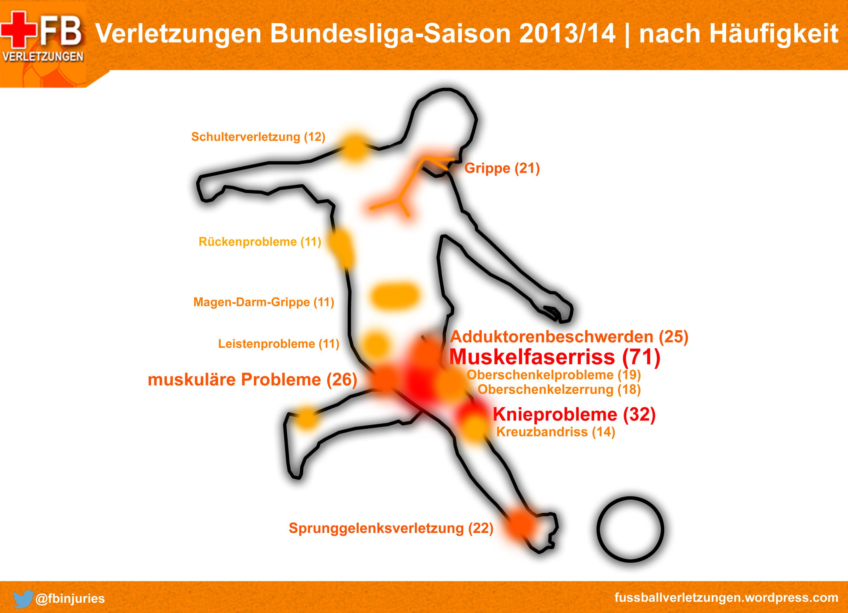 Statistik: Die häufigsten Verletzungen der Fußball-Bundesliga ...