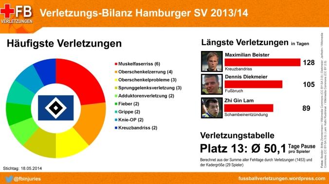 Verletzungs-Bilanz Hamburger SV 2013/14