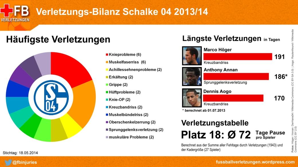 Verletzungs-Bilanz Schalke 04 2013/14